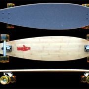 Fun Box Skateboards Bamboo Pintail Longboard