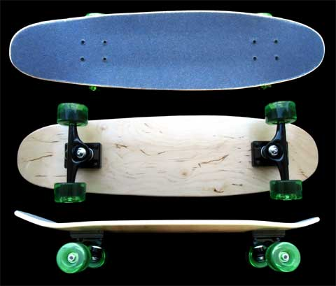 Fun Box Skateboards Maple Nickel Cruiser Complete