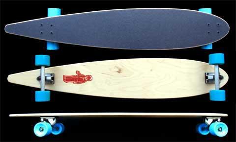 """Fun Box 47"""" Maple Pintail Longboard"""