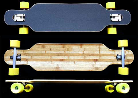 Fun Box Skateboards NS Bamboo Drop Through Longboard