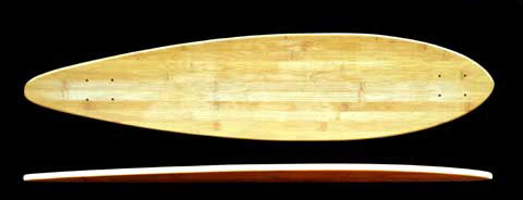 Fun Box Bamboo Pintail Longboard