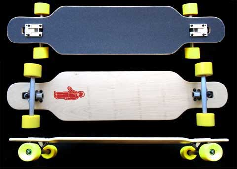 Fun Box Skateboards NS Maple Drop Through Longboard