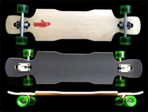 FunBox Skateboards Drop Through Double Kick Longboard