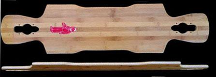 Fun Box Skateboards Bamboo Kray Longboard